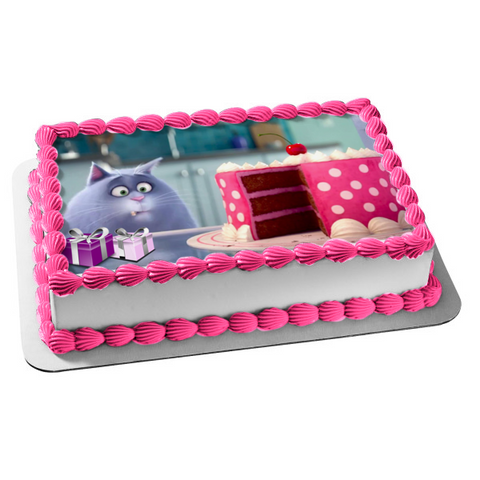 The Secret Life of Pets Chloe Cake Presents Edible Cake Topper Image ABPID04337