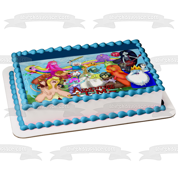 Adventure Time with Finn and Jake Ice King Edible Cake Topper Image ABPID04338