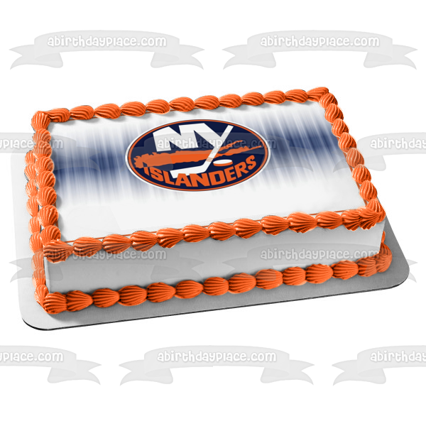 New York Islanders Professional Ice Hockey Edible Cake Topper Image ABPID04367