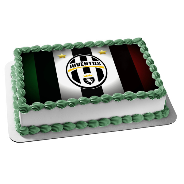 Juventus Football Club Juve Italian Professional Football Club Turin Piedmont Edible Cake Topper Image ABPID04368
