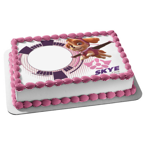 Paw Patrol Skye Pup Flying Edible Cake Topper Image Frame ABPID04466