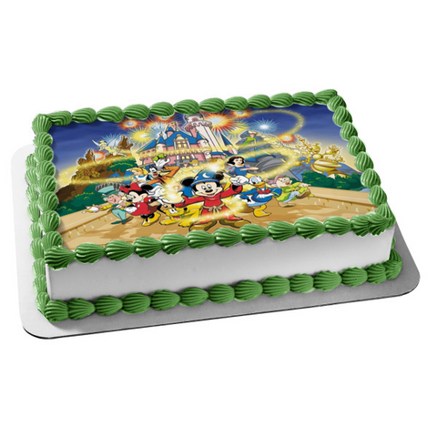 Disneyland Mickey Mouse Donald Duck Edible Cake Topper Image ABPID04508