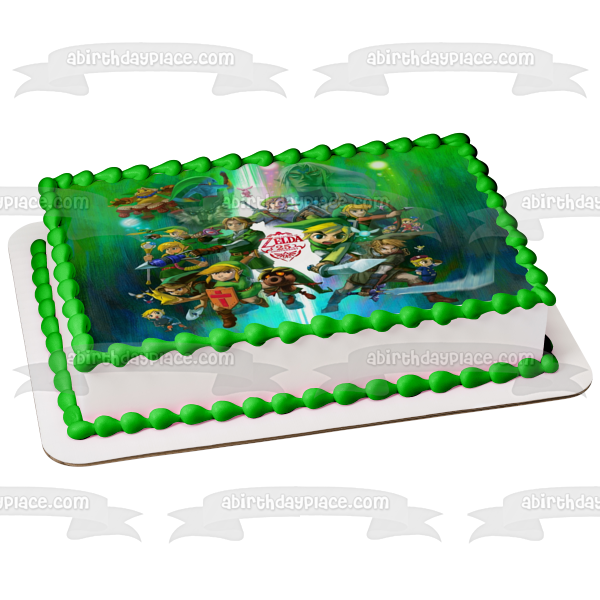 The Legend of Zelda 25th Anniversary Edible Cake Topper Image ABPID04534