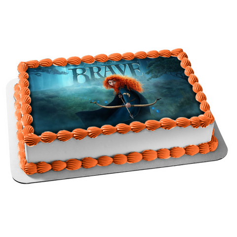 Disney Pixar Brave Merida Bow and Arrow Trees Owl Edible Cake Topper Image ABPID04679
