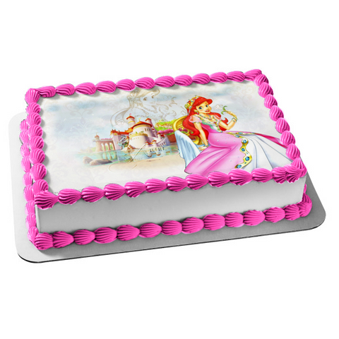 Disney Princess Ariel the Little Mermaid Edible Cake Topper Image ABPID04802