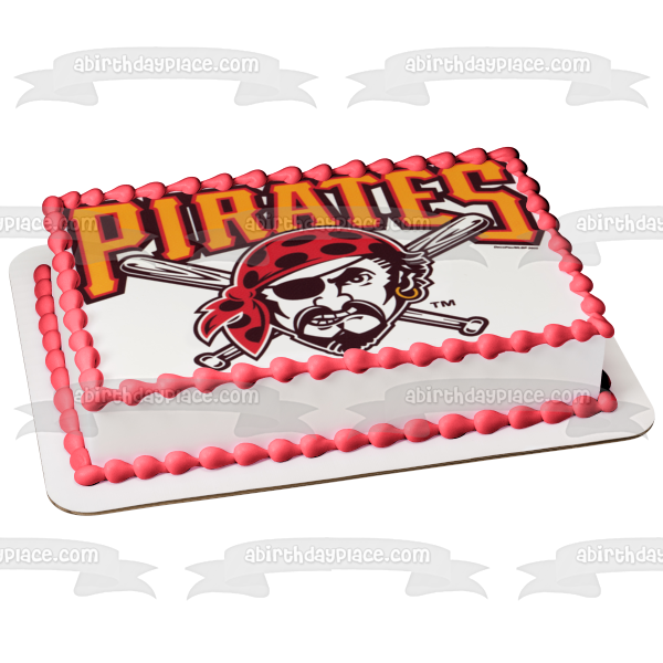 Pittsburgh Pirates Logo American Professional Baseball Team Pittsburgh Pennsylvania Edible Cake Topper Image ABPID04933