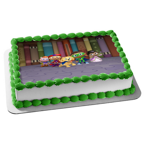 Super Why Woofster Princess Presto Edible Cake Topper Image ABPID05005