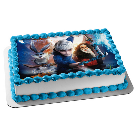 Rise of the Guardians Jack Frost E. Aster Bunnymynd Nicholas St. North Edible Cake Topper Image ABPID05117