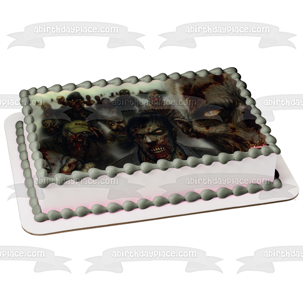 Zombies Fog Edible Cake Topper Image ABPID05314