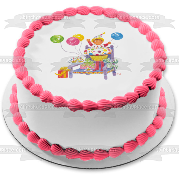 Elf on the Shelf Happy Birthday Edible Cake Topper Image ABPID05391
