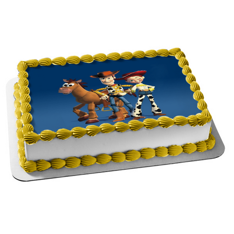 Toy Story 2 Disney Woody Bullseye Jessie Edible Cake Topper Image ABPID05470