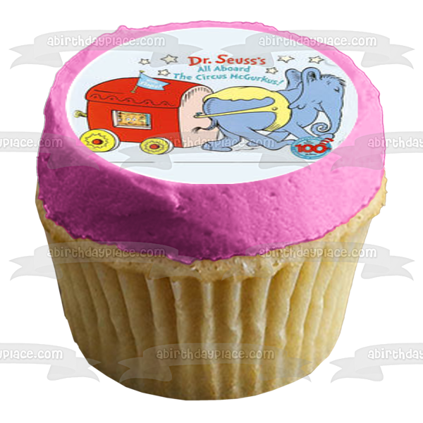 Dr. Seuss Books Cupcake Toppers Green Eggs and Ham Hop on Pop Wocket Pocket Edible Cupcake Topper Images ABPID00056