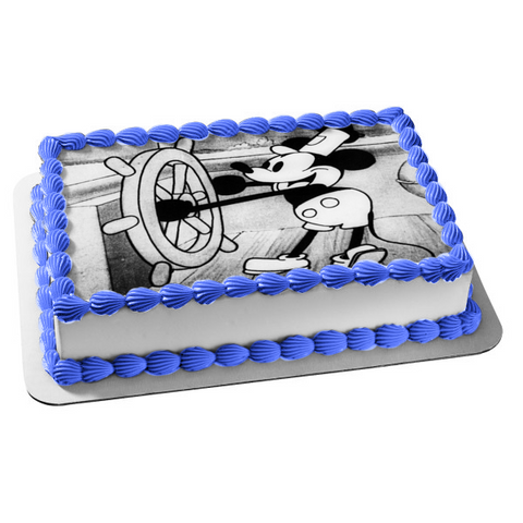 Mickey Mouse Steamboat Willie Edible Cake Topper Image ABPID05779
