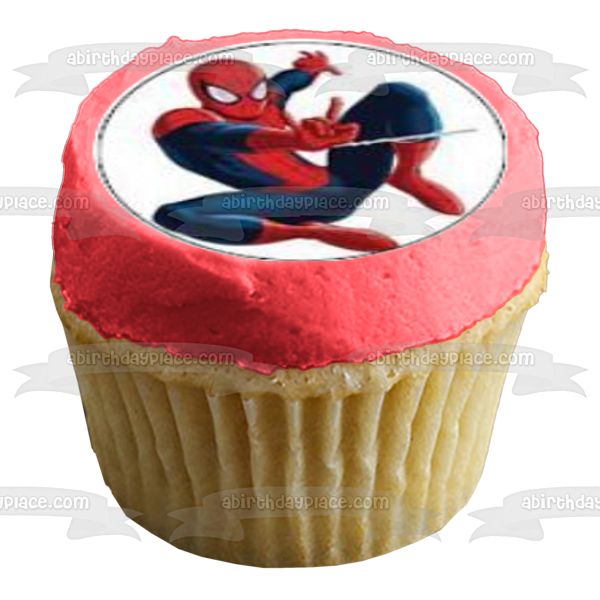 Spider-Man Marvel Superhero Spidey Edible Cupcake Topper Images ABPID03179