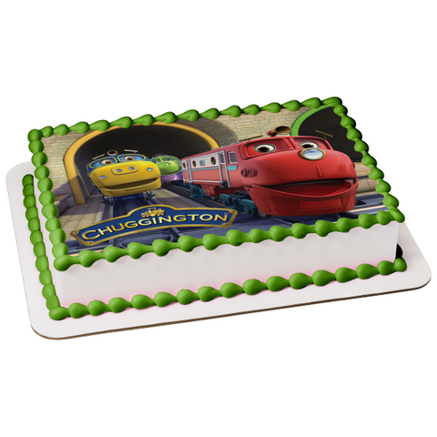Chuggington and Friends Koko Wilson Brewster Edible Cake Topper Image ABPID05826