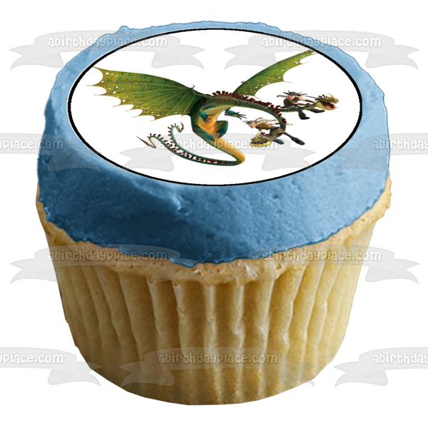 How to Train Your Dragon Fishlegs Hiccup Astrid Edible Cupcake Topper Images ABPID03418