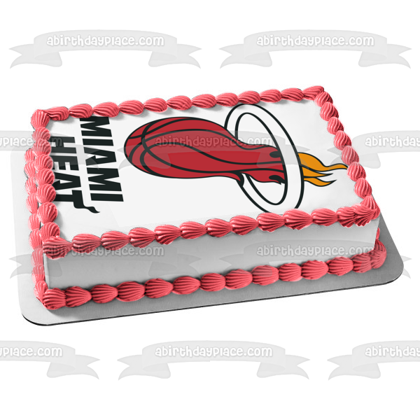 Miami Heat Logo NBA Edible Cake Topper Image ABPID05877