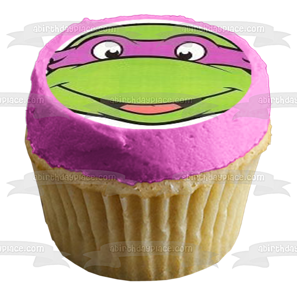 Teenage Mutant Ninja Turtles Donatello Michaelangelo Leonardo Raphael Edible Cupcake Topper Images ABPID03835