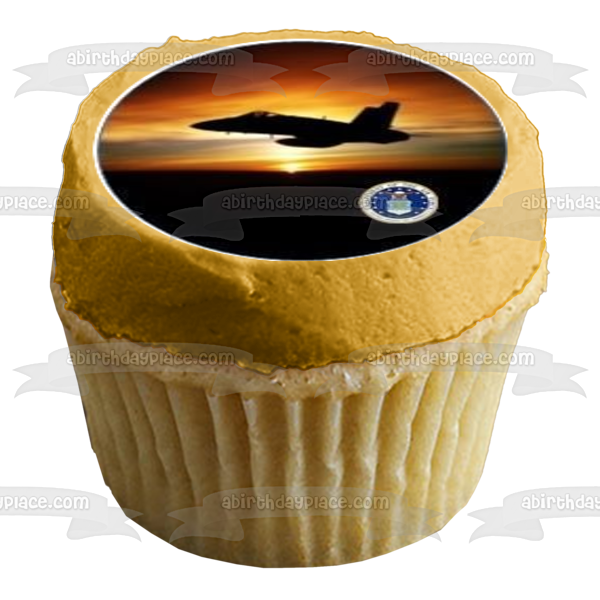 Us Military Logos Air Force Planes Flag Edible Cupcake Topper Images ABPID03850