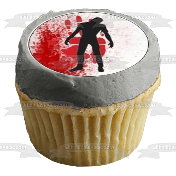 The Walking Dead Logo Zombie Edible Cupcake Topper Images ABPID03897