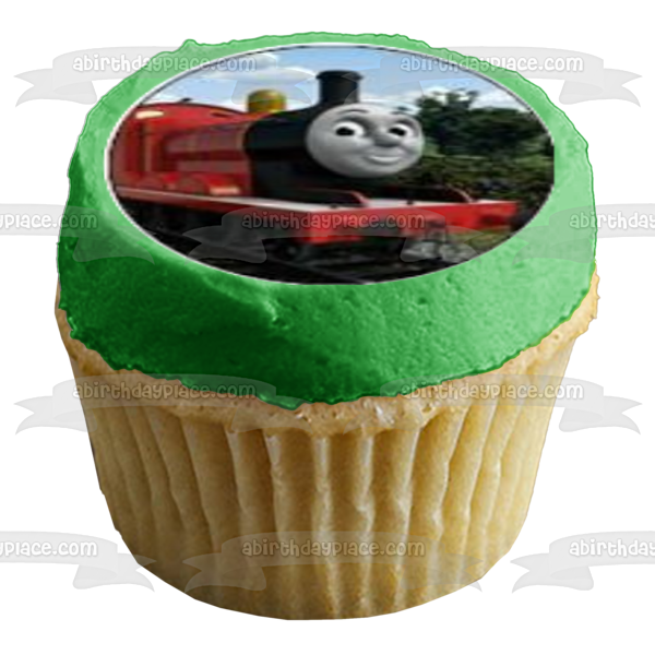 Thomas & Friends Thomas the Tank Engine James Percy Edible Cupcake Topper Images ABPID04073