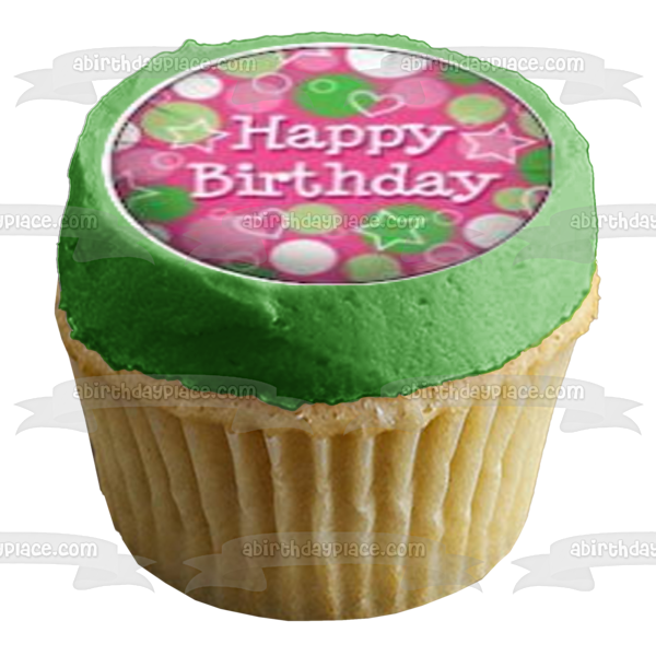21st Birthday Girl Happy Birthday Edible Cupcake Topper Images ABPID04461