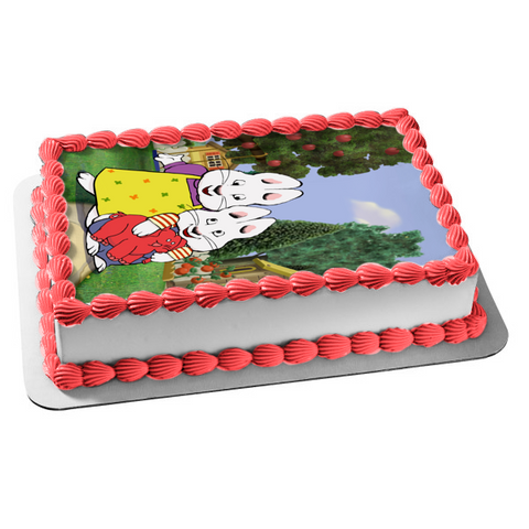 Max and Ruby Mom Trees Apples Edible Cake Topper Image ABPID06105