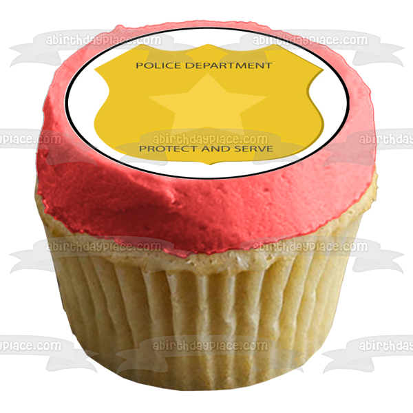 Police Officer Police Car Police Department Protect and Serve Edible Cupcake Topper Images ABPID04754