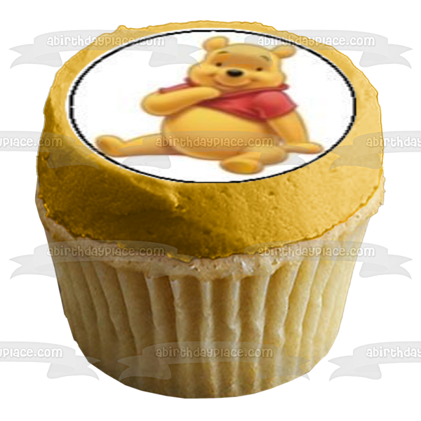 Winnie the Pooh Piglet Tigger Eeyore Edible Cupcake Topper Images ABPID05328