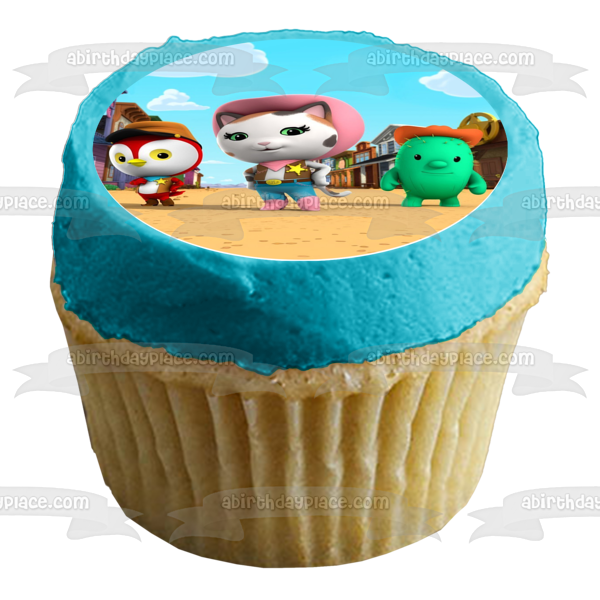 Disney Sheriff Callie's Wild West Toby Deputy Peck Sparky Edible Cupcake Topper Images ABPID05568