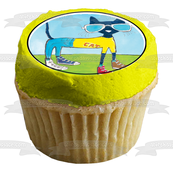 Pete the Cat Grumpy Toad Edible Cupcake Topper Images ABPID06135