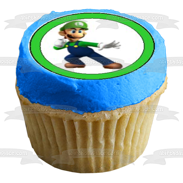 Super Mario Brothers Luigi Yoshi Wario Bowser Edible Cupcake Topper Images ABPID07534