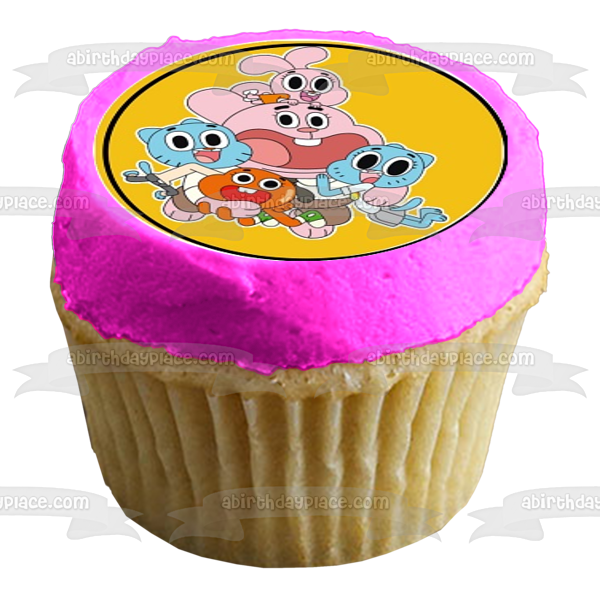 Amazing Gumball Darwin Anais Gumball Nicole Richard Edible Cupcake Topper Images ABPID22115