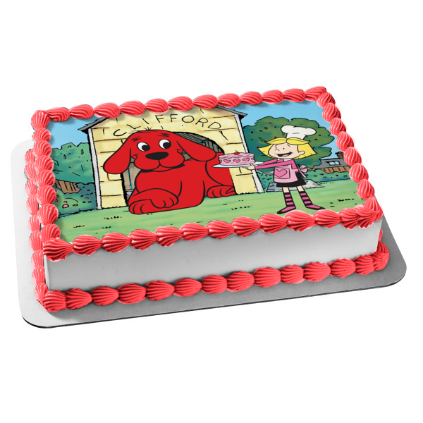 Clifford Big Red Dog Edible Party Cake Image Topper Frosting Icing Sheet