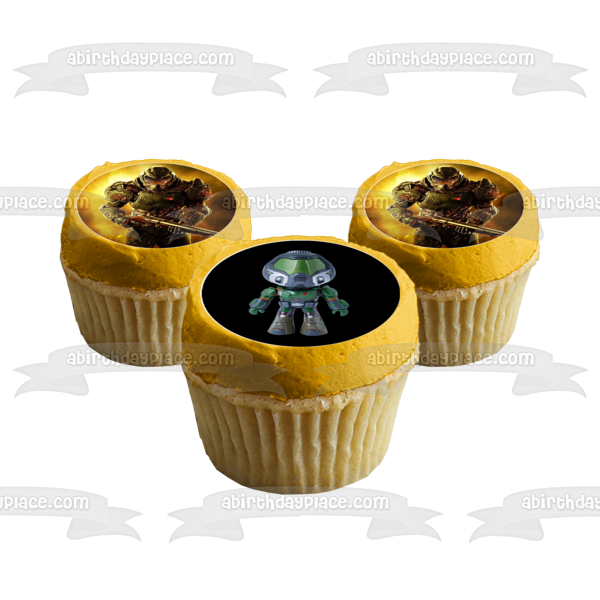 Doom Little Doomguy Arch-Vile 12ct Edible Cupcake Topper Images ABPID51145