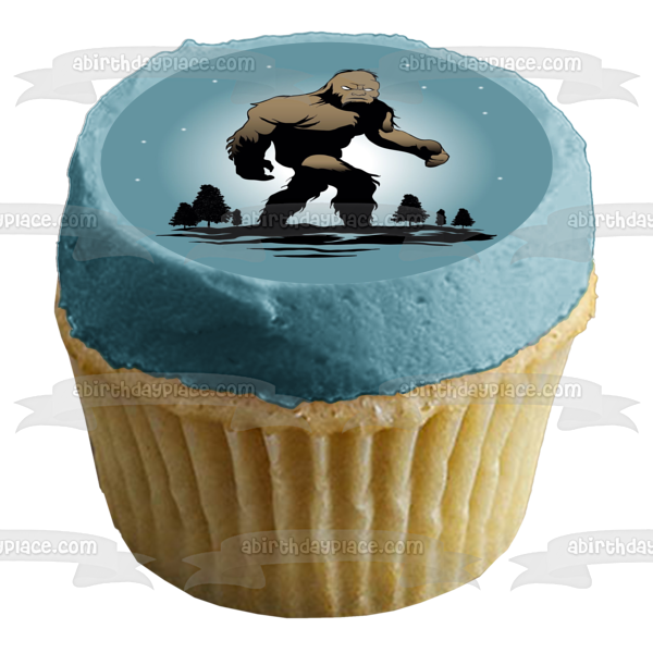 Bigfoot Sasquatch Whitehall New York Town Official Animal Edible Cake Topper Image ABPID00070