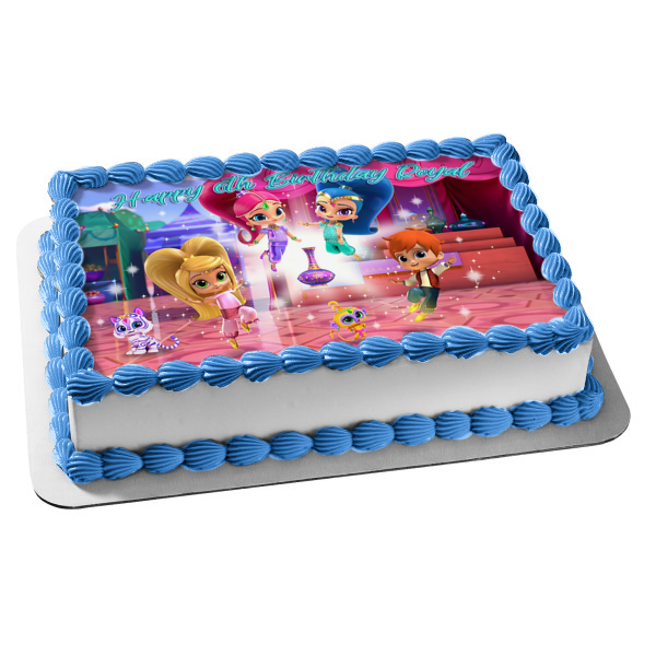 Shimmer and Shine Leah Zac Tala Nahal Edible Cake Topper Image ABPID00072