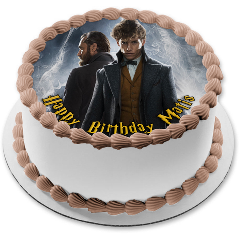 Fantastic Beasts: The Crimes of Grindelwald Newt Dumbledore Edible Cake Topper Image ABPID00860