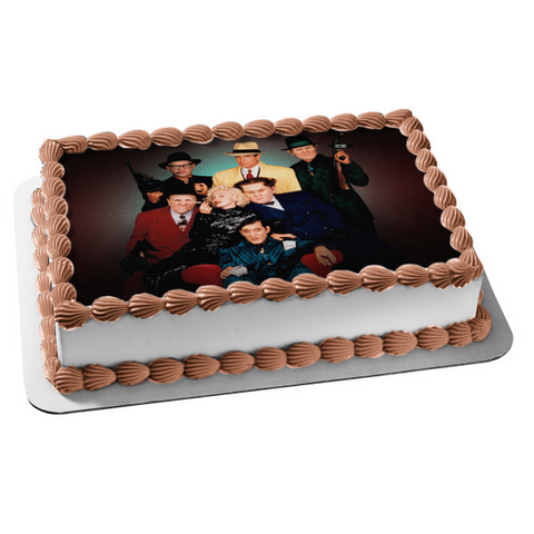 Dick Tracy Live Action Comic Book Movie Villains Edible Cake Topper Image ABPID53619