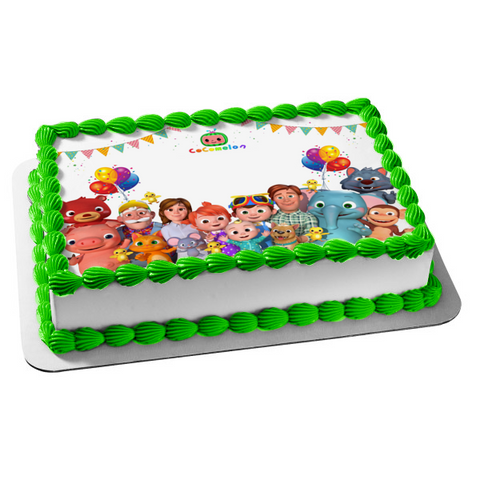 Cocomelon  Characters TV Show Youtube Jj Tom Tom Yoyo Edible Cake Topper Image ABPID53621