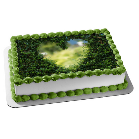 Heart Felt Hedges Edible Cake Topper Image ABPID53632