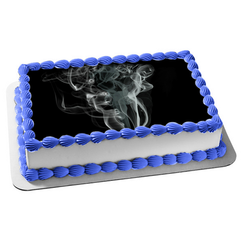 Abstract Smoke What Do You See Edible Cake Topper Image ABPID53633