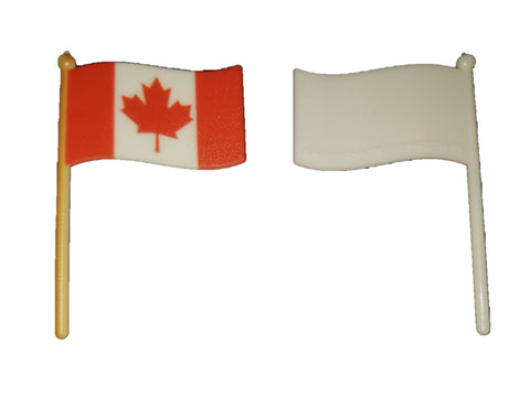 Canadian Flag Cupcake Picks (12 pieces)