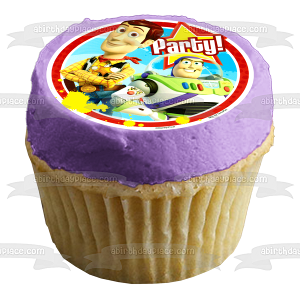 TOY STORY Woody Party Edible cake topper image