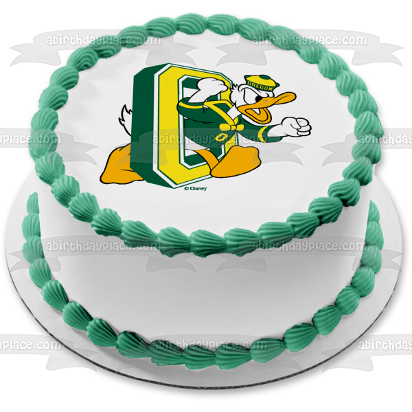 University of Oregon Ducks Logo Sports Mascot Edible Cake Topper Image ABPID03243