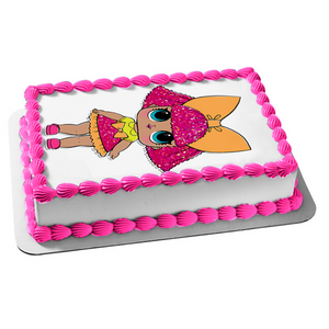 LOL Surprise Glitter Queen Edible Cake Topper Image ABPID49617