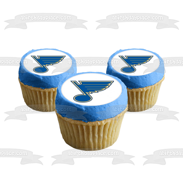 St. Louis Blues Logo NHL National Hockey League Edible Cupcake Topper Images ABPID08365