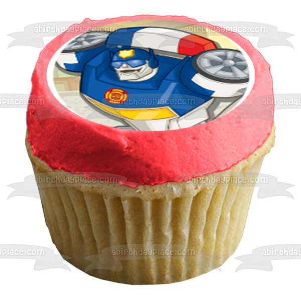 Transformers Rescue Bots Optimus Prime Heatwave Boulder Blades Edible Cupcake Topper Images ABPID14808