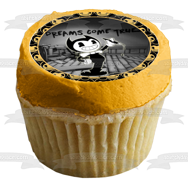 Bendy and the Ink Machine Cupcakes Edible Cupcake Topper Images ABPID50317