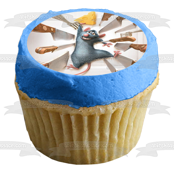 Disney Pixar Ratatouille Movie Poster Remy Knives Edible Cake Topper Image ABPID53000